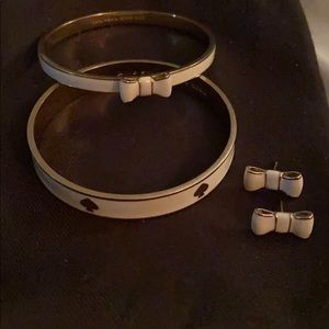 Kate Spade bracelets and matching earrings